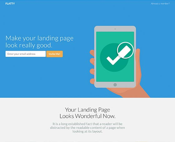 Flatty - Free Bootstrap App Landing Page