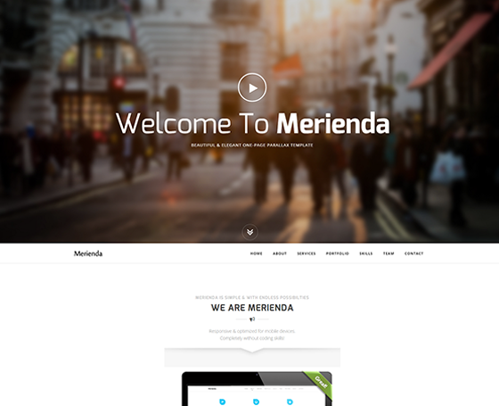 Merinda - One Page Parallax Template