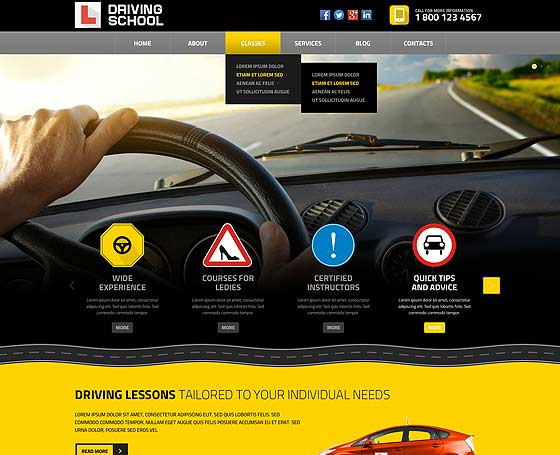 driving school templates by popular gridgum