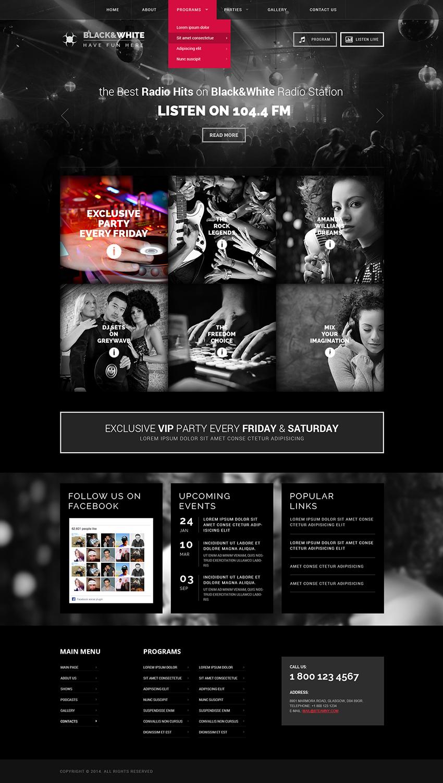 Online radio wordpress theme