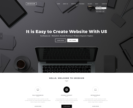 Black label bootstrap template