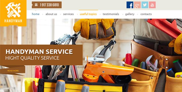 handyman service bootstrap template