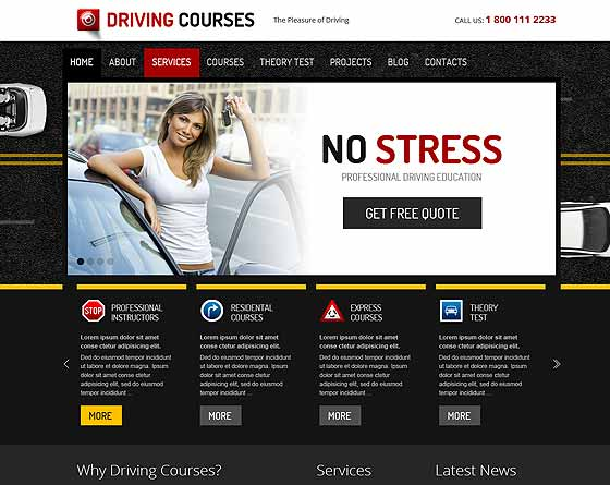 Driving Courses - Wordpress theme