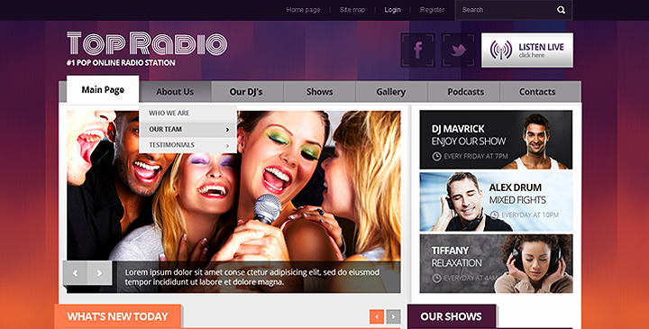 Top Online Radio station template