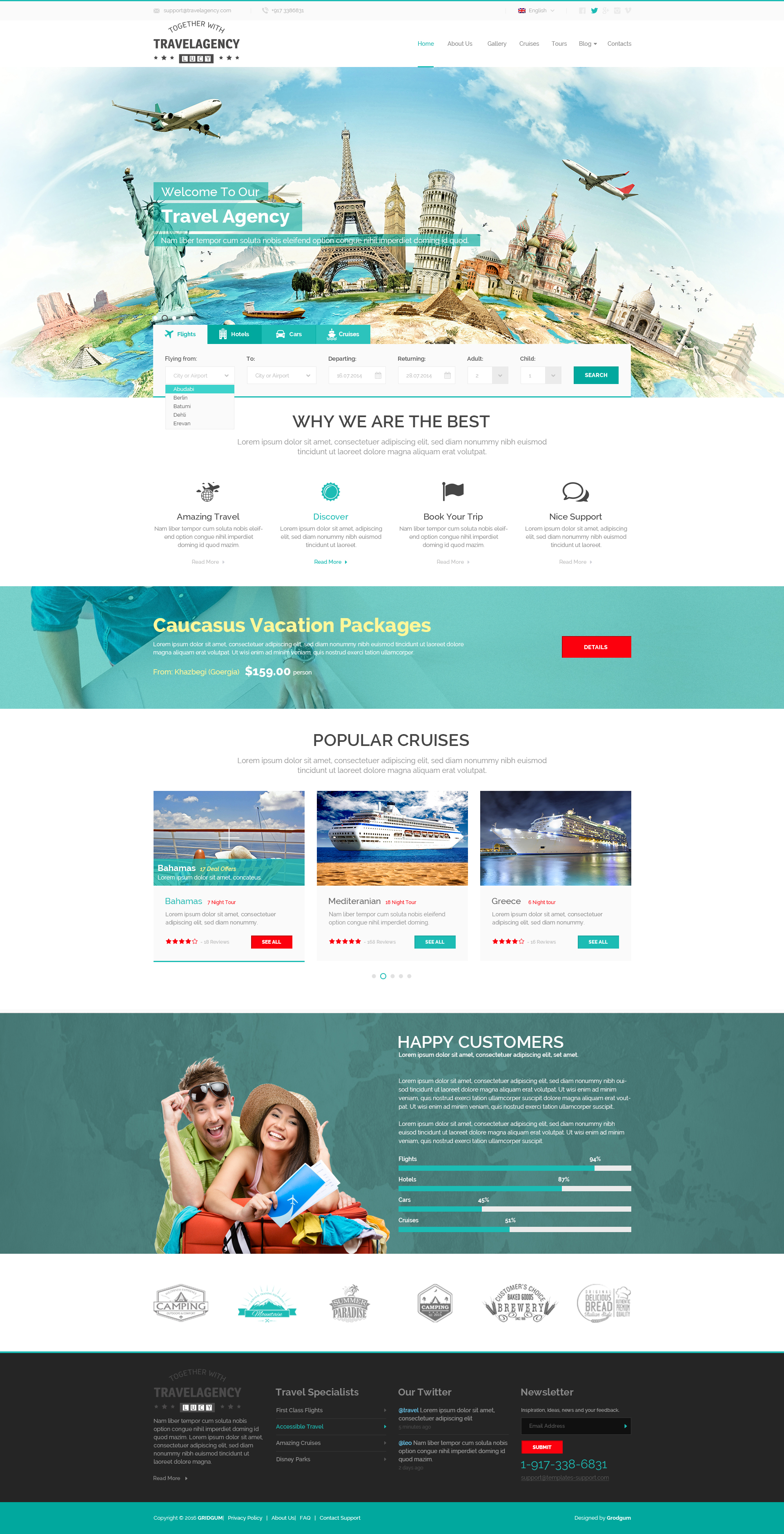 Travel Agency - Bootstrap responsive theme