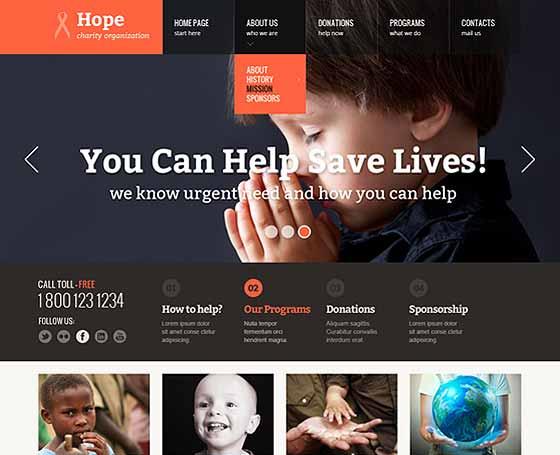 Charity site templates | Gridgum