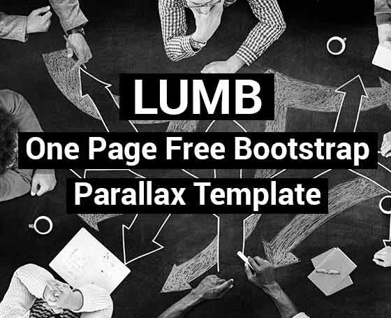 Lumb - one page free bootstrap template