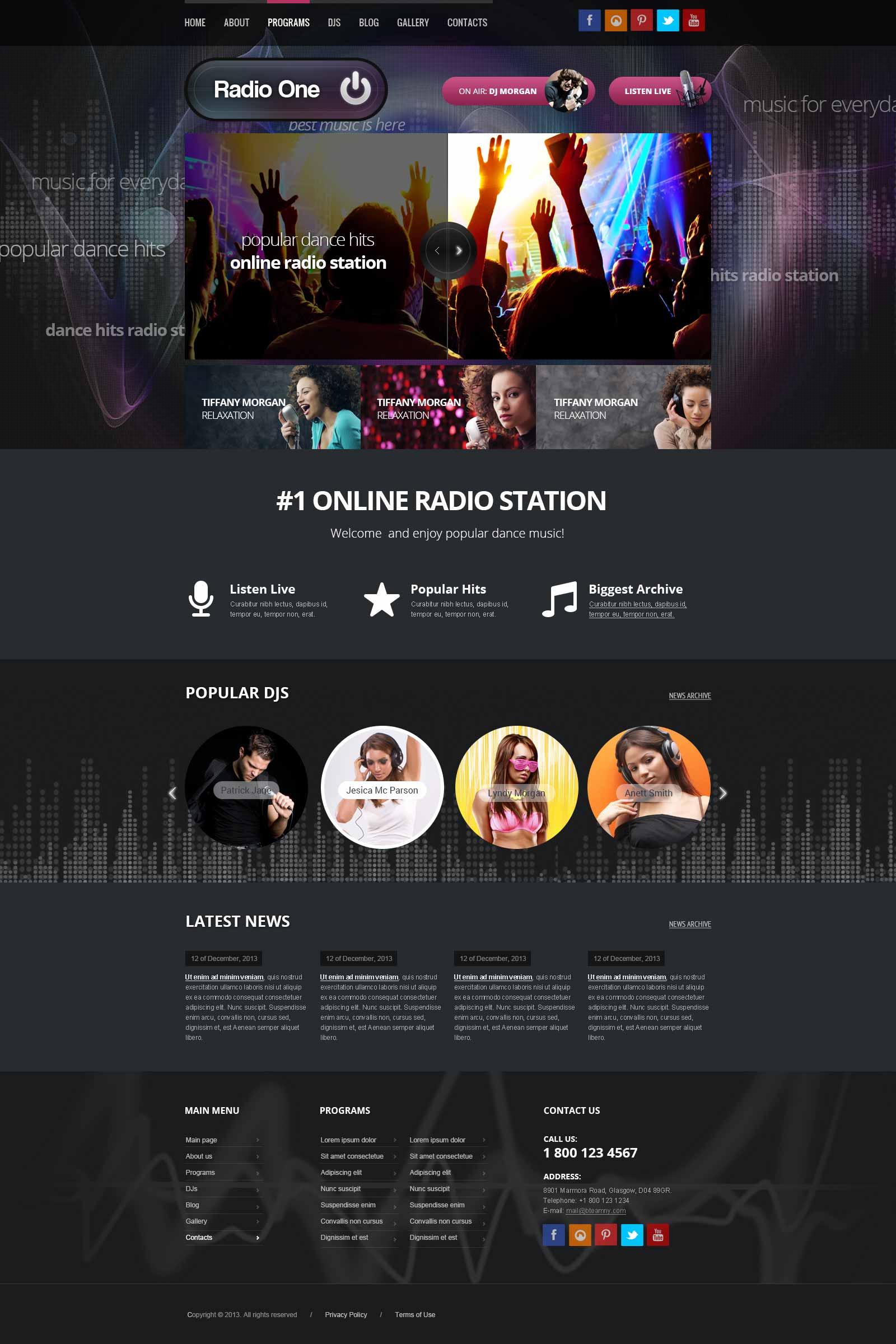 Radio Station wordpress theme (template)