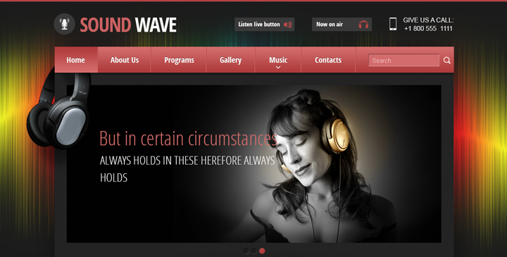 Internet Radio Station Website Template Gridgum