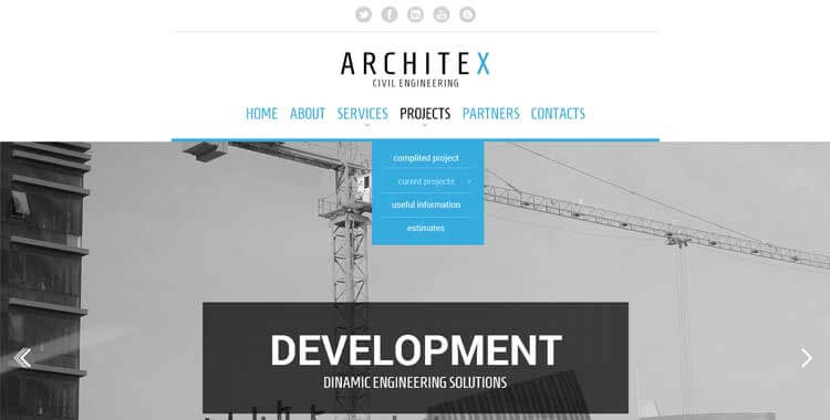 Architex Free Bootstrap website template