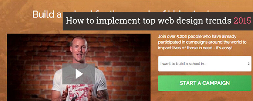 How to implement top web design trends 2015