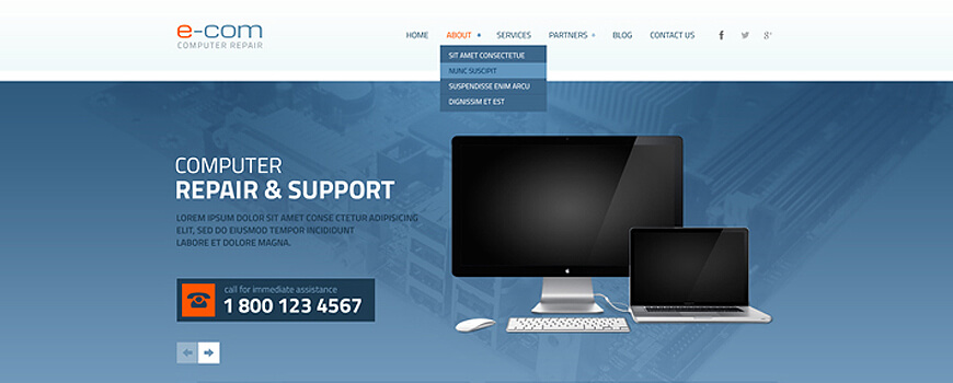 5 top ranked computer repair website templates