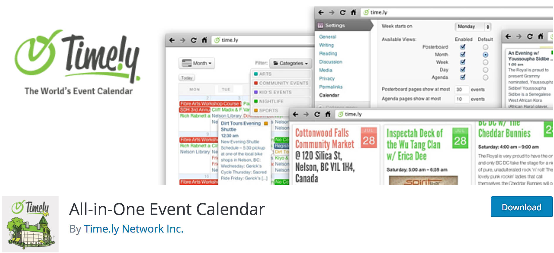 All in One Event Calendar