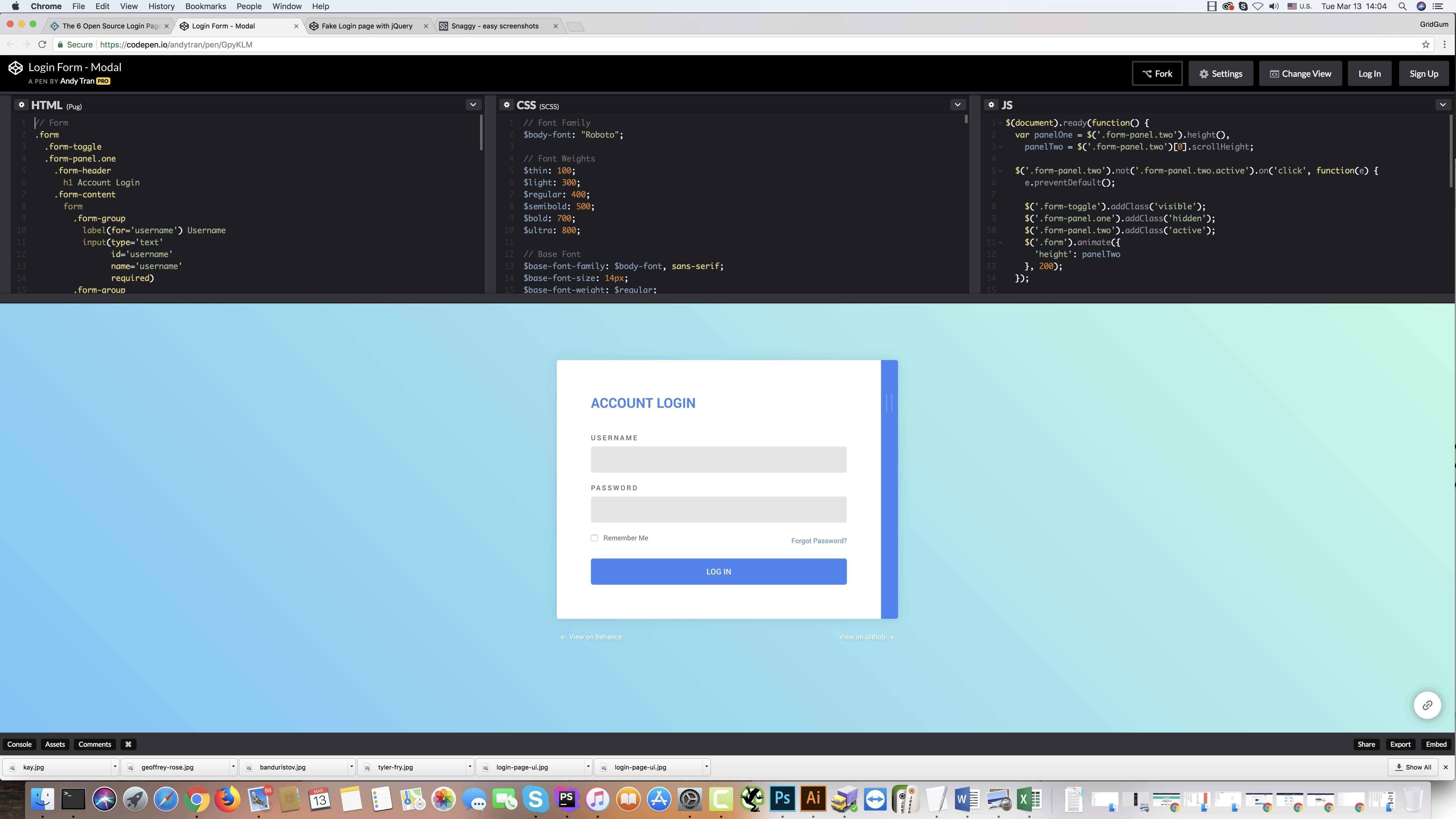 Login with Register Modal