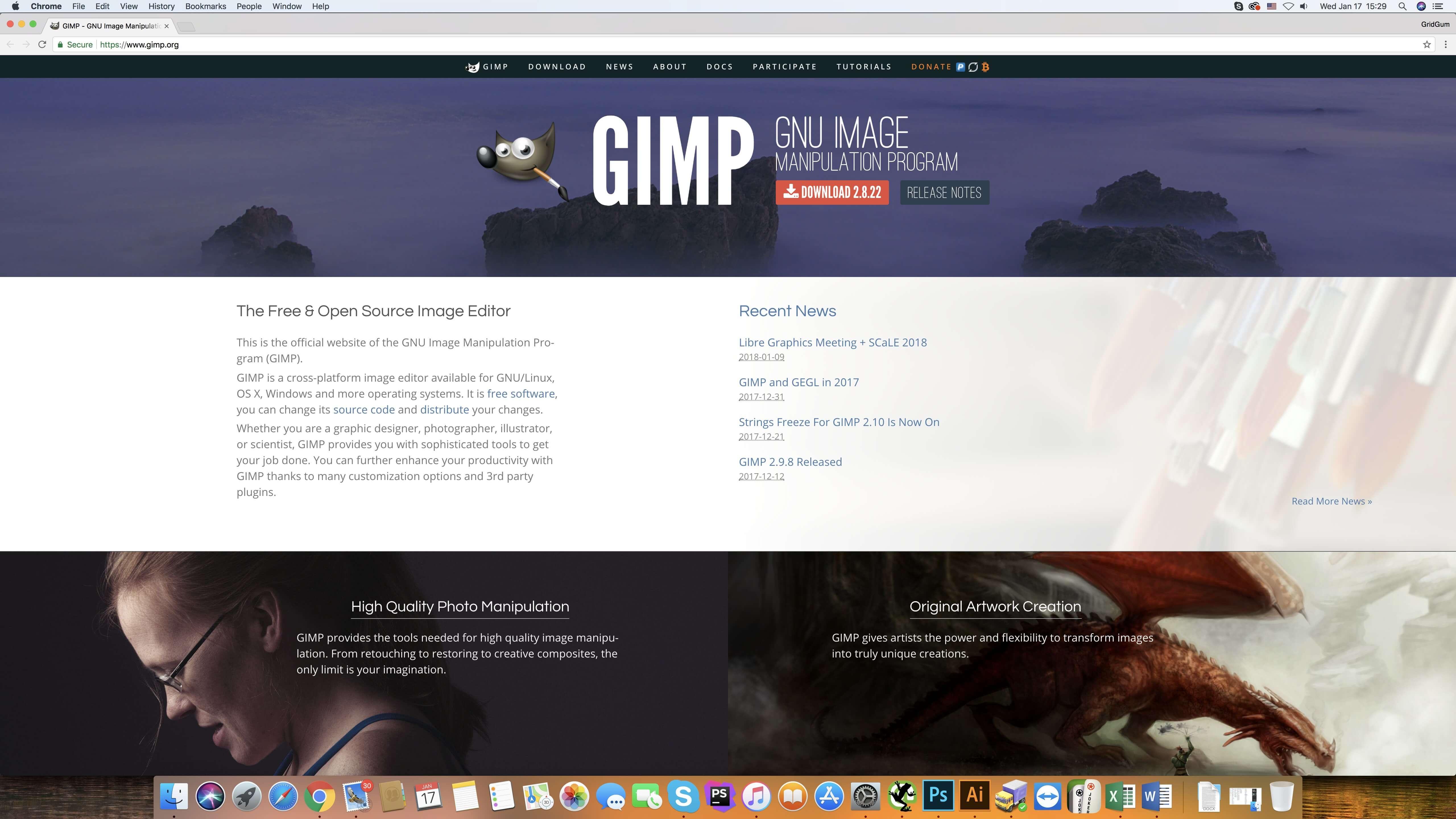 Home page design tutorial gimp 2.