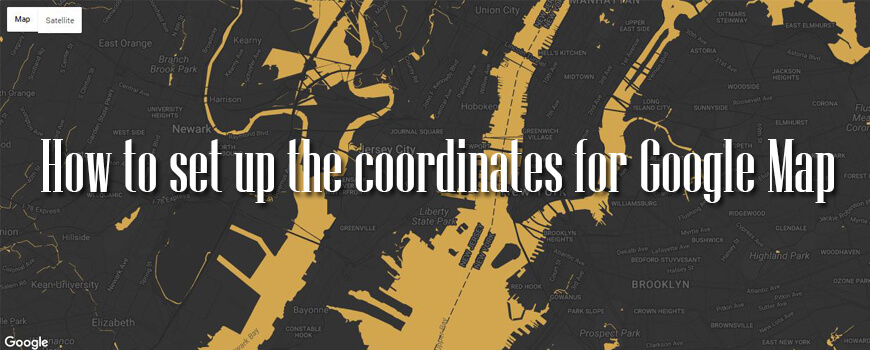 How To Set Google Map Coordinates