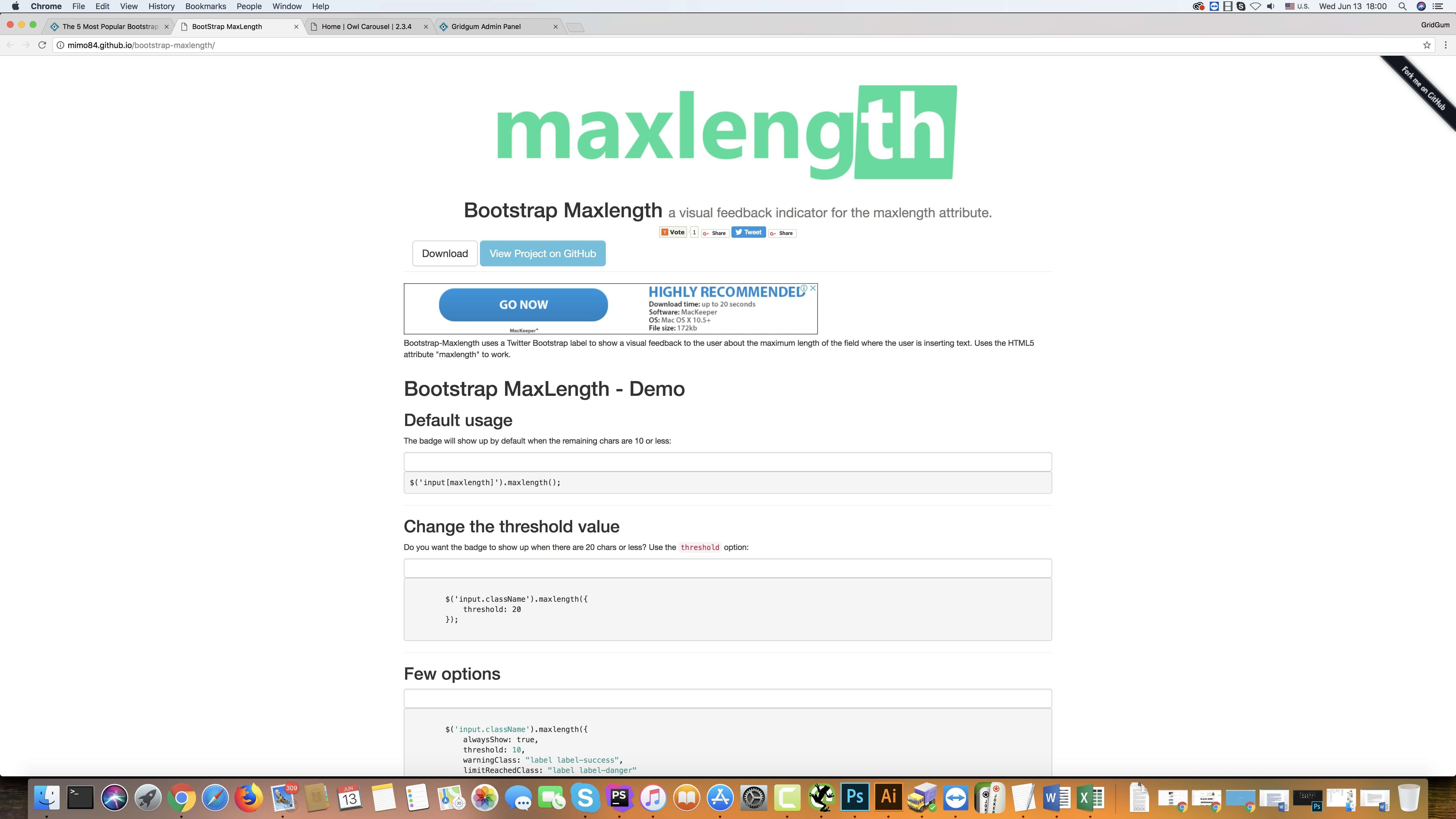 Bootstrap Maxlength