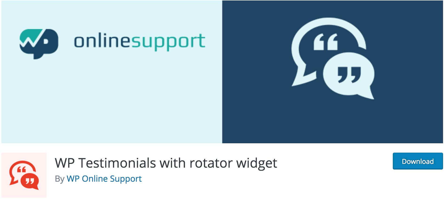 WP Testimonials, Rotator Widget