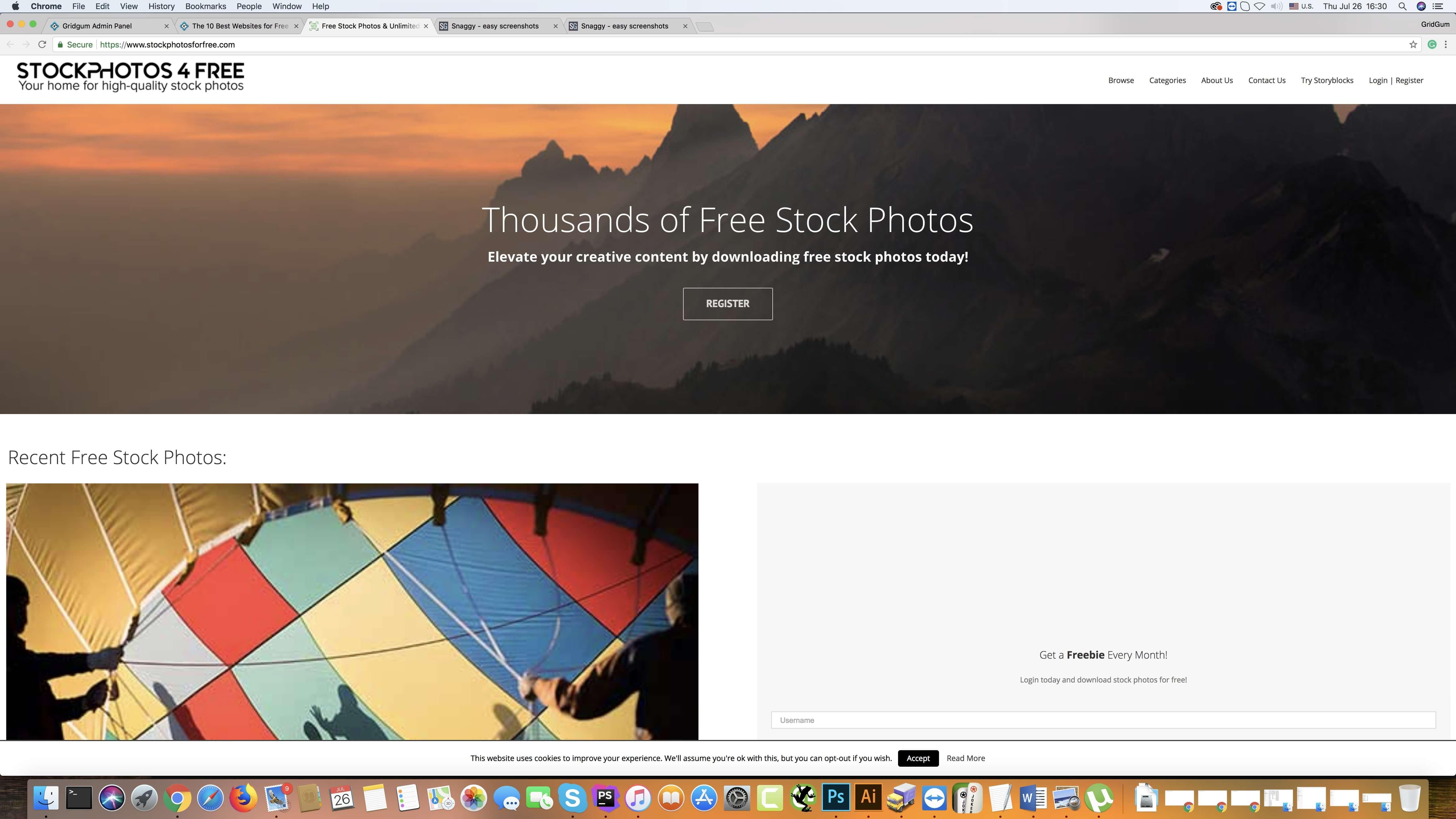 Stock Photos for Fee