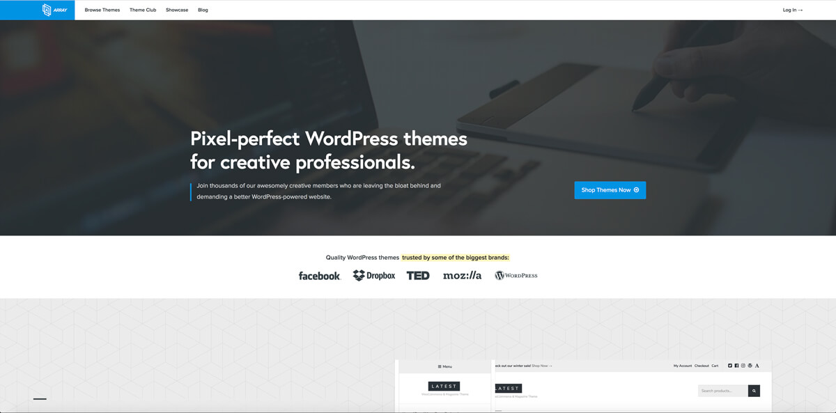Website templates provider