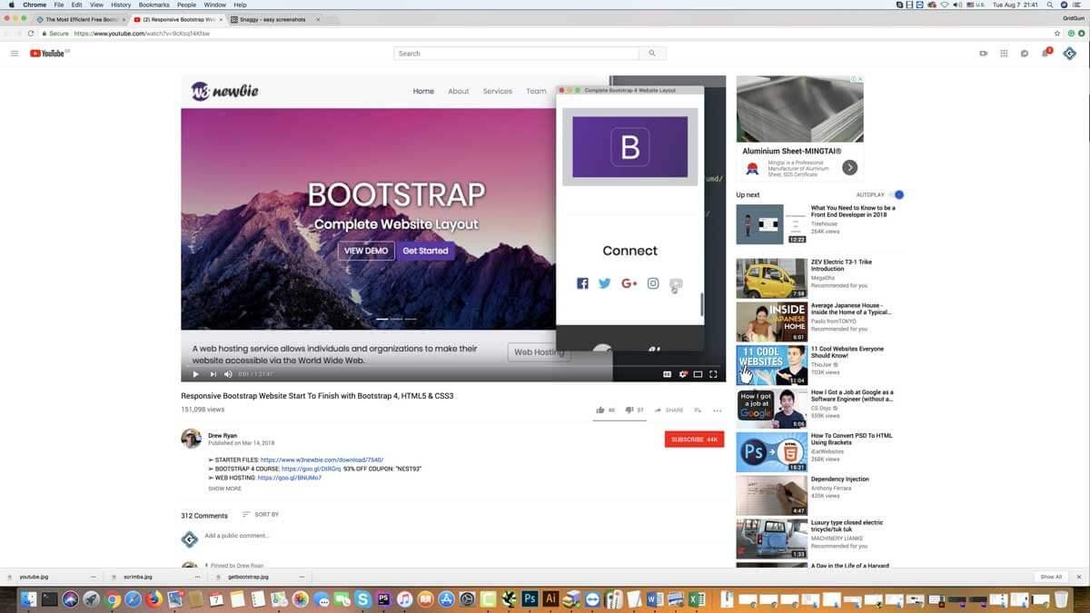Drew Ryan's Bootstrap 4 course
