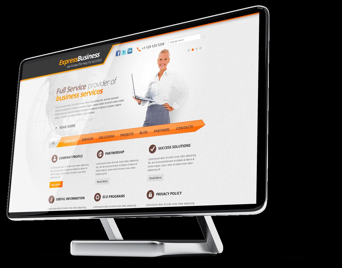Express business free WordPress theme
