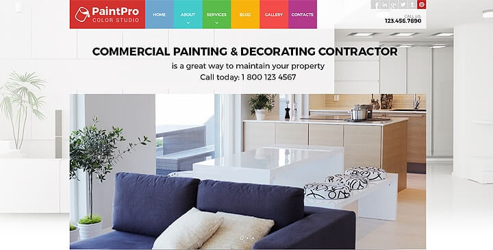 Painting website template