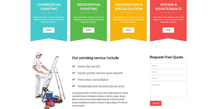 House Painting website template