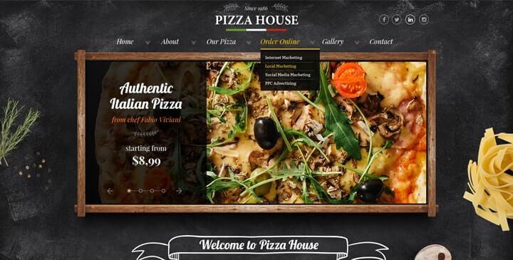 pizza website template  pizza website design