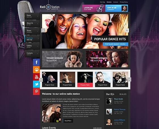 online radio wordpress theme