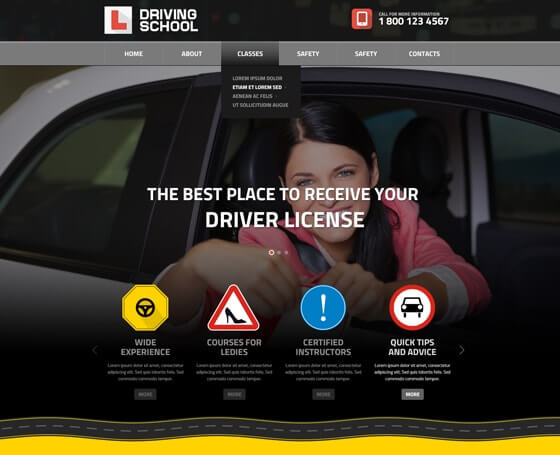 Driving School bootstrap theme