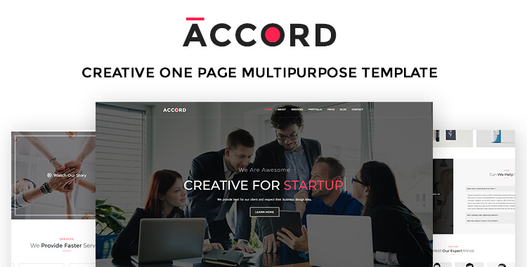 Accord Creative One Page (Landing Page) Multipurpose Template