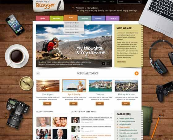 Blogger - free PSD Template