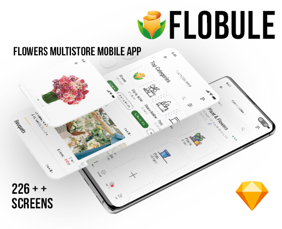 Flobule UI Kit for Mobile App