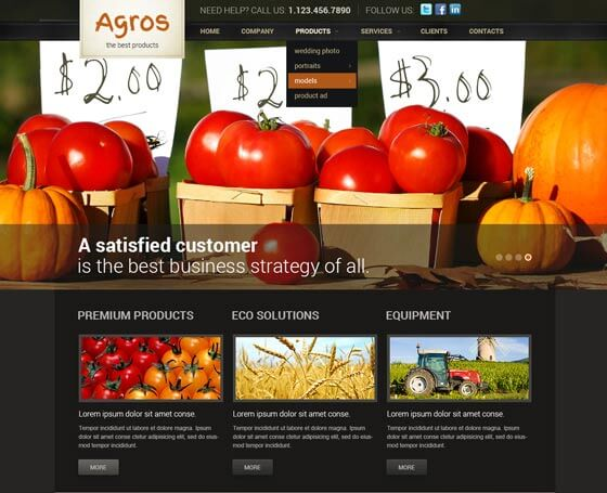 agro free bootstrap template