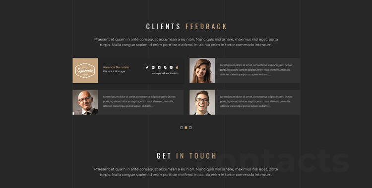 Architecture bootstrap website template
