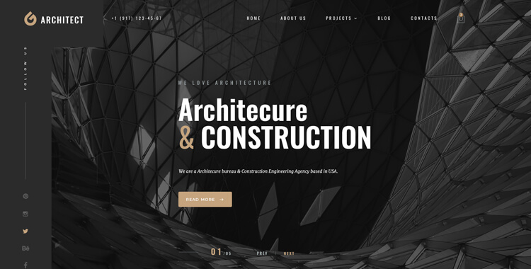 Architect bootstrap 4 template