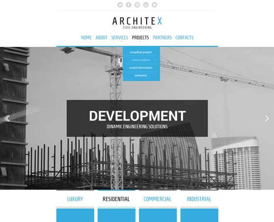 Architex - Free bootstrap template