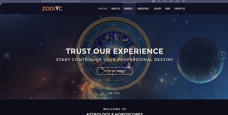 Astrology Responsive Joomla Theme