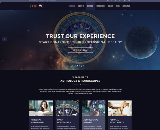 astrology joomla theme