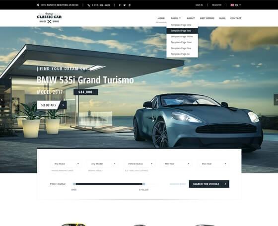 16 car templates car website templates gridgum