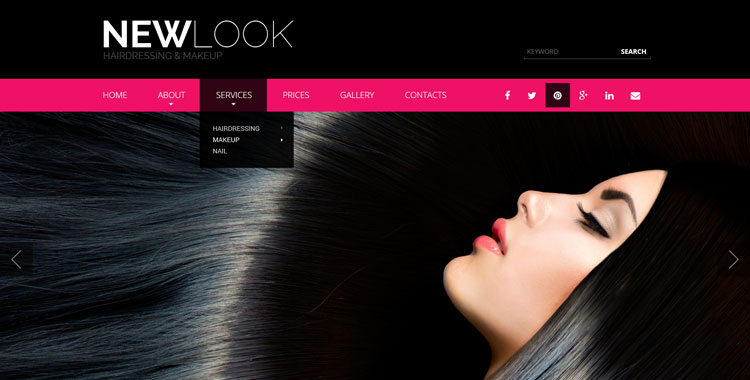 beauty salon bootstrap template