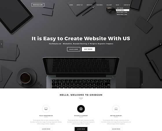 black and white labels WordPress themes