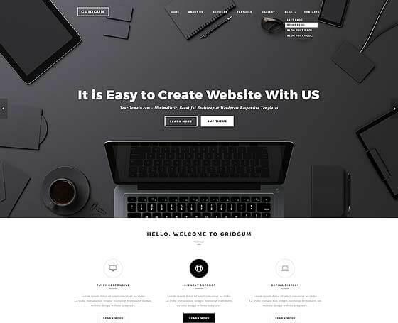 Black White Labels Bootstrap Wordpress