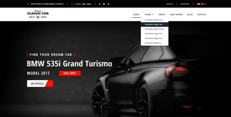 Car Dealer Bootstrap Template