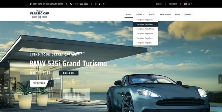 Car Marketplace Theme
