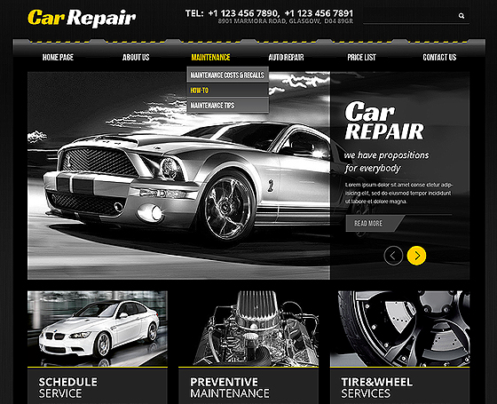 Car repair free bootstrap template