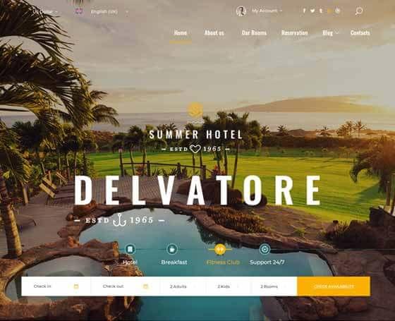 Hotel delvatore - Bootstrap 4 Template