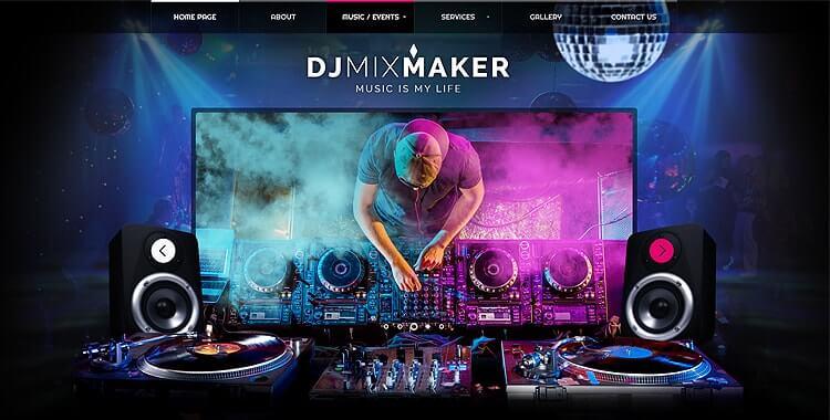 dj mixmaker bootstrap theme  dj template
