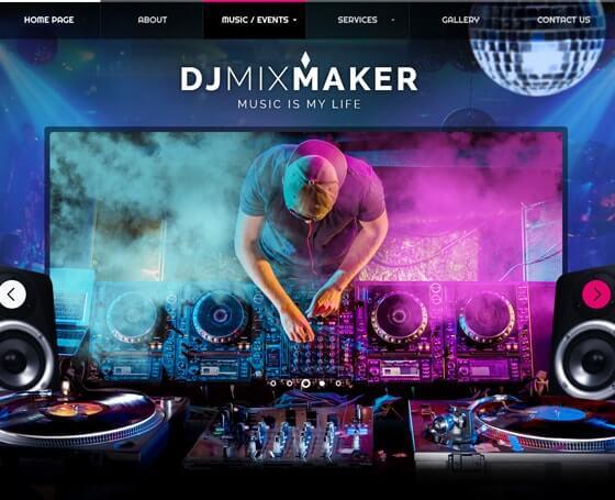 dj mixmaker bootstrap theme